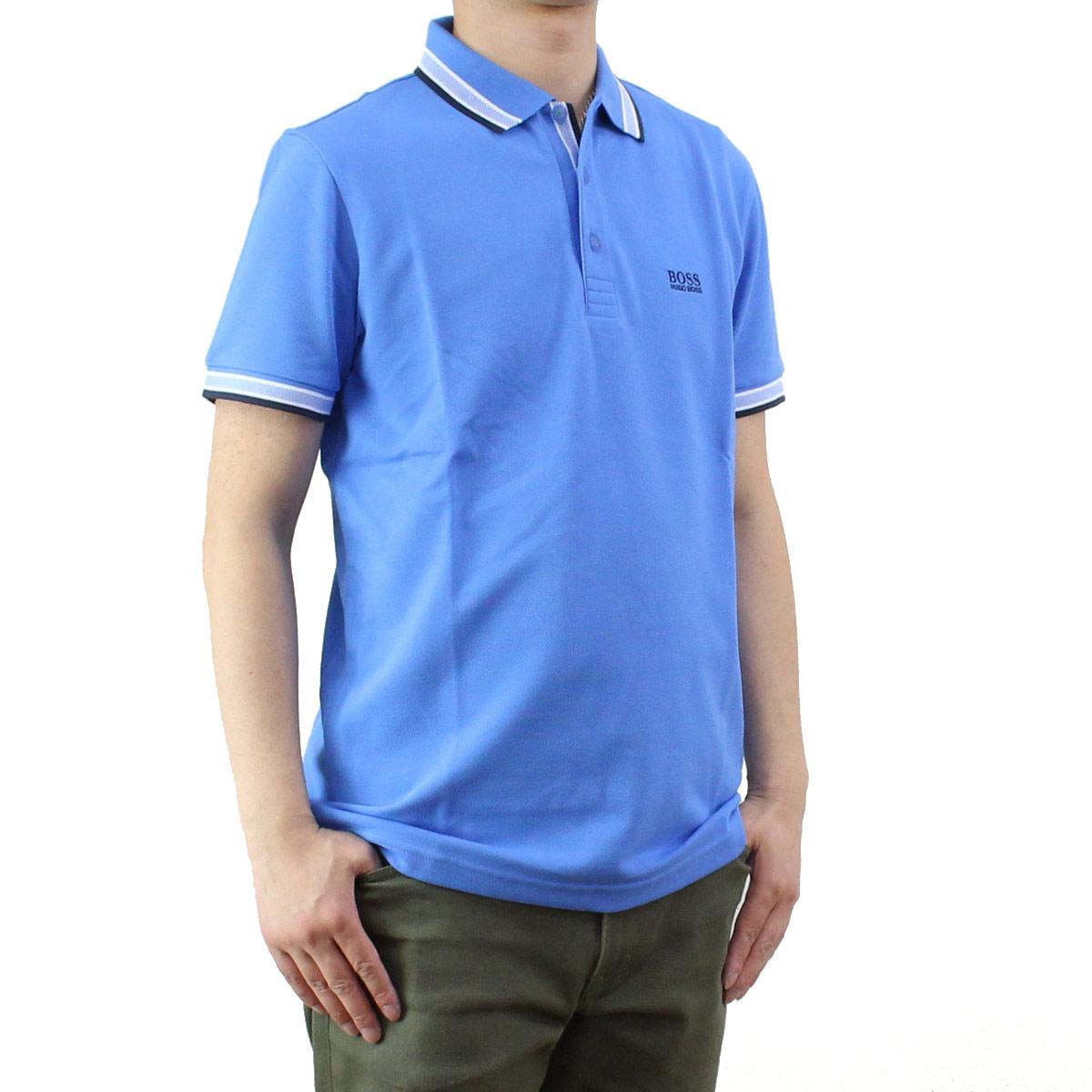 ヒューゴ ボス HUGO BOSS PADDY パディ メンズ ポロシャツ 50302557 10102943 423 ブルー系 メンズ 半袖 ゴルフウェア【キャッシュレス 5% 還元】
