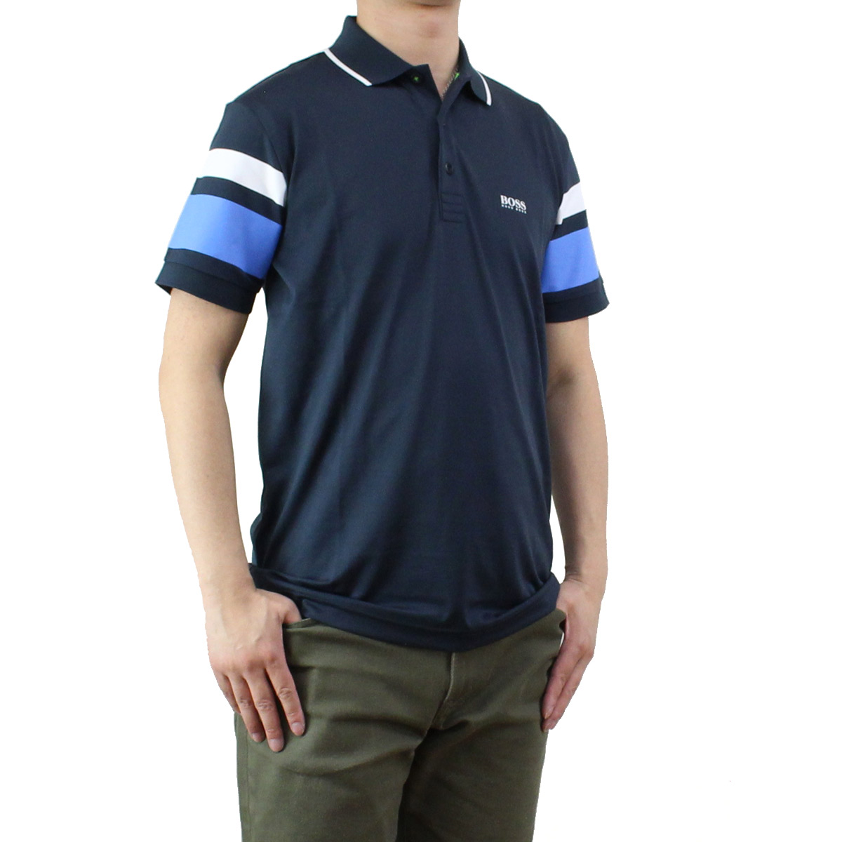 f8e299aee Bighit The total brand wholesale: Hugo boss (HUGO BOSS) PADDY 5 men's polo  shirt 50329638 10175216 410 navy system | Rakuten Global Market