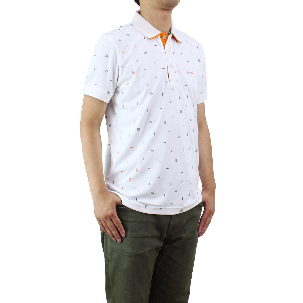 ヒューゴボス ゴルフウェア ヒューゴ ボス HUGO BOSS メンズ ポロシャツ 50330415 10196380 100 ホワイト系 メンズ 半袖【キャッシュレス 5% 還元】