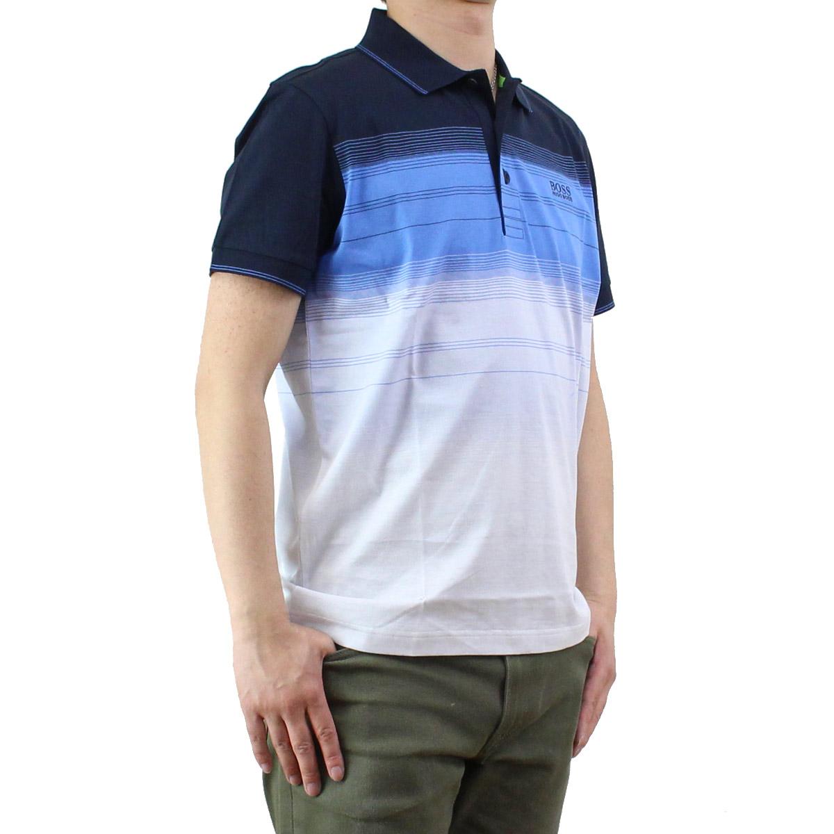 ヒューゴ ボス HUGO BOSS PADDY 3 メンズ ポロシャツ 50330997 10196211 410 マルチカラー メンズ 半袖【キャッシュレス 5% 還元】