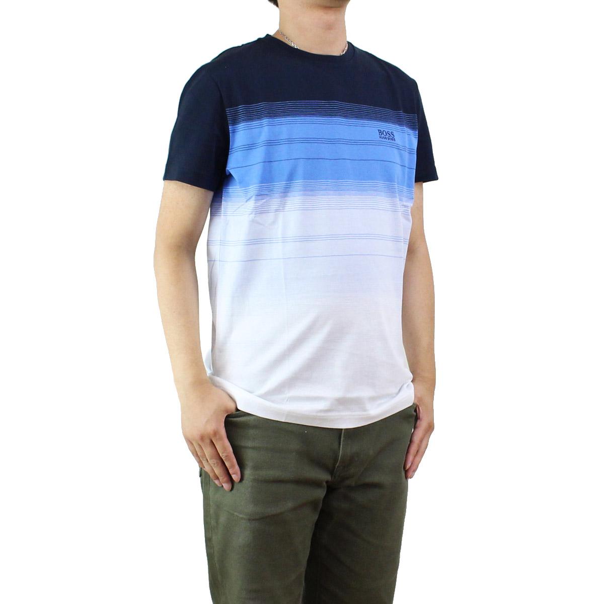 83357b73 Bighit The total brand wholesale: Hugo boss (HUGO BOSS) men's short-sleeved  gradation T-shirt 50330998 10196211 410 blue system | Rakuten Global Market