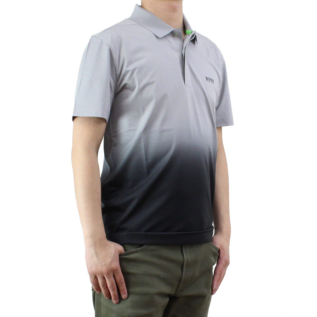 0aeae9ad3 Bighit The total brand wholesale: Hugo boss (HUGO BOSS) PLYOTECH men polo  shirt gradation 50332099 10197607 058 gray system, black | Rakuten Global  Market