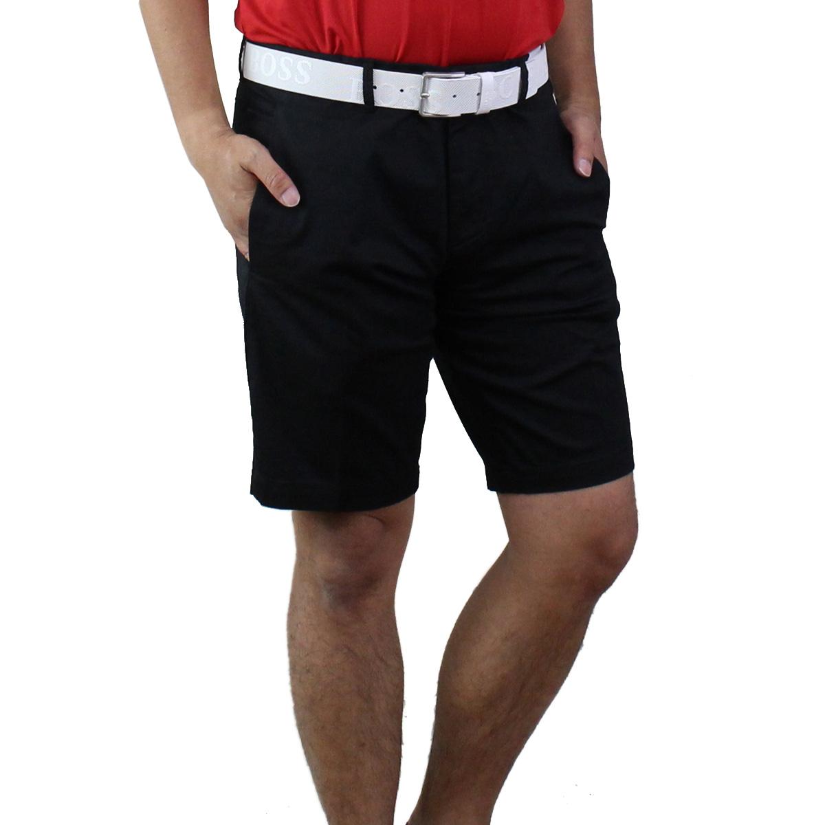 ヒューゴ ボス HUGO BOSS LIEM4 ハーフパンツ ゴルフウェア 50403126 10165966 001 ブラック メンズ【キャッシュレス 5% 還元】