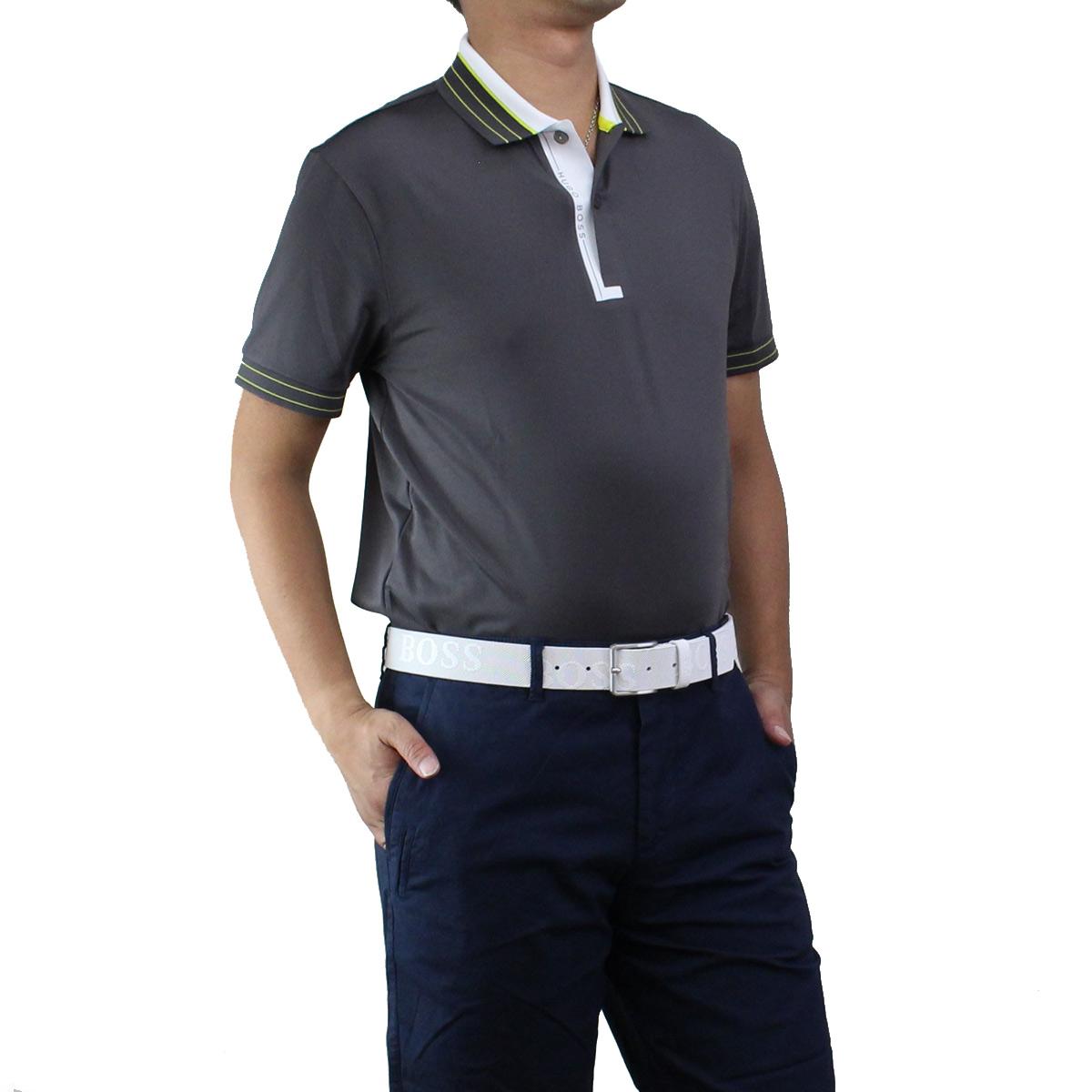 ヒューゴ ボス HUGO BOSS PADDY PRO 1 パディ プロ ポロシャツ 半袖 ゴルフウェア 50403515 10208323 037 グレー系 メンズ【キャッシュレス 5% 還元】