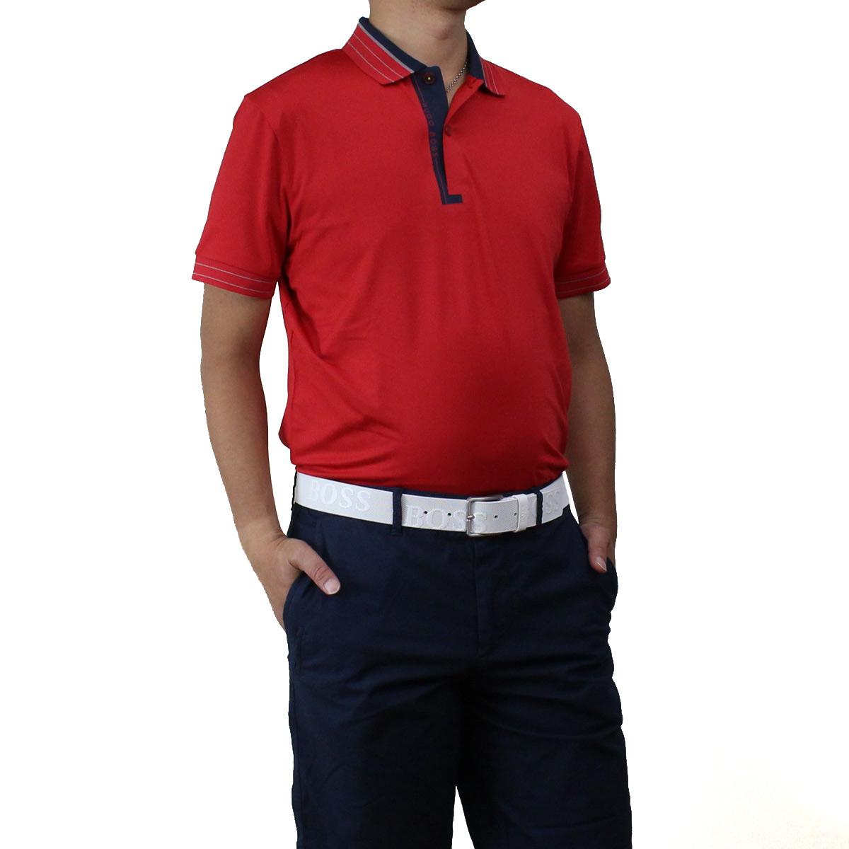 ヒューゴ ボス HUGO BOSS PADDY PRO 1 パディ プロ ポロシャツ 半袖 ゴルフウェア 50403515 10208323 622 レッド系 メンズ【キャッシュレス 5% 還元】