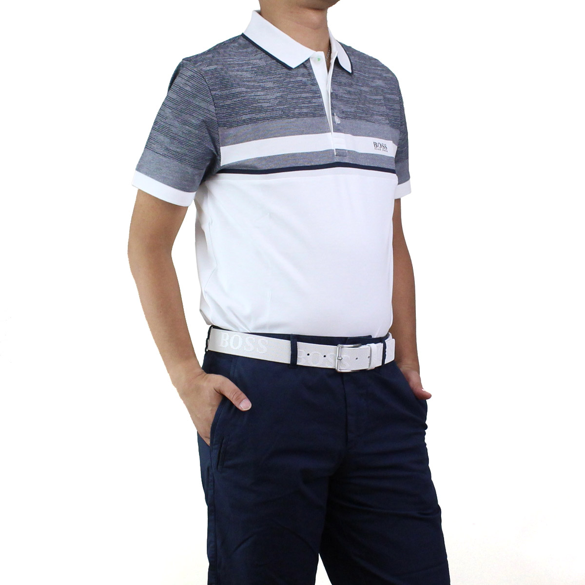0b0ece947 Bighit The total brand wholesale: Hugo Boss HUGO BOSS PAULE 5 poles 5 polo  shirt short sleeves golf wear 50404265 10215735 100 white system gray  system men ...