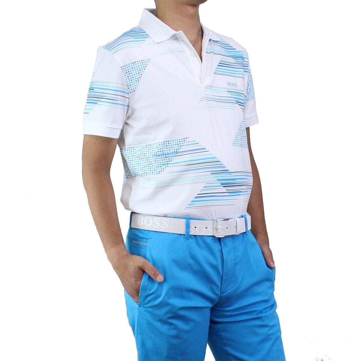 ヒューゴ ボス HUGO BOSS PAULE 6 ポール6 ポロシャツ 半袖 ゴルフウェア 50406570 10210510 100 ホワイト系 メンズ【キャッシュレス 5% 還元】