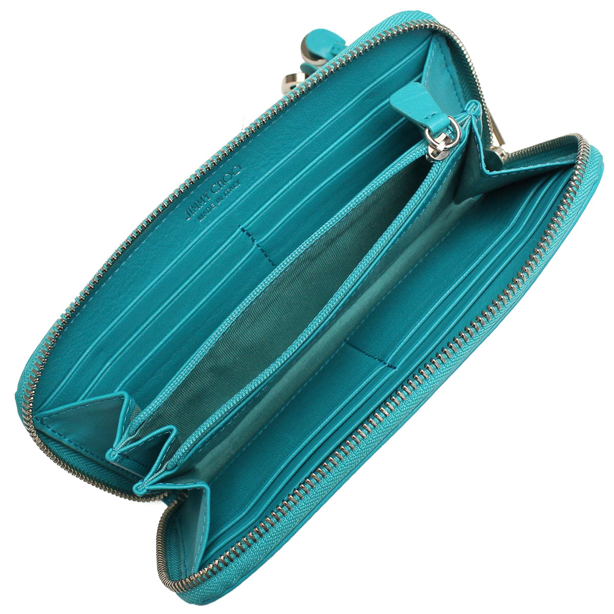 ffa48707fe ... Jimmy Choo (JIMMY CHOO) wallet large zip around FILIPA-CST MALIBU blue(  ...