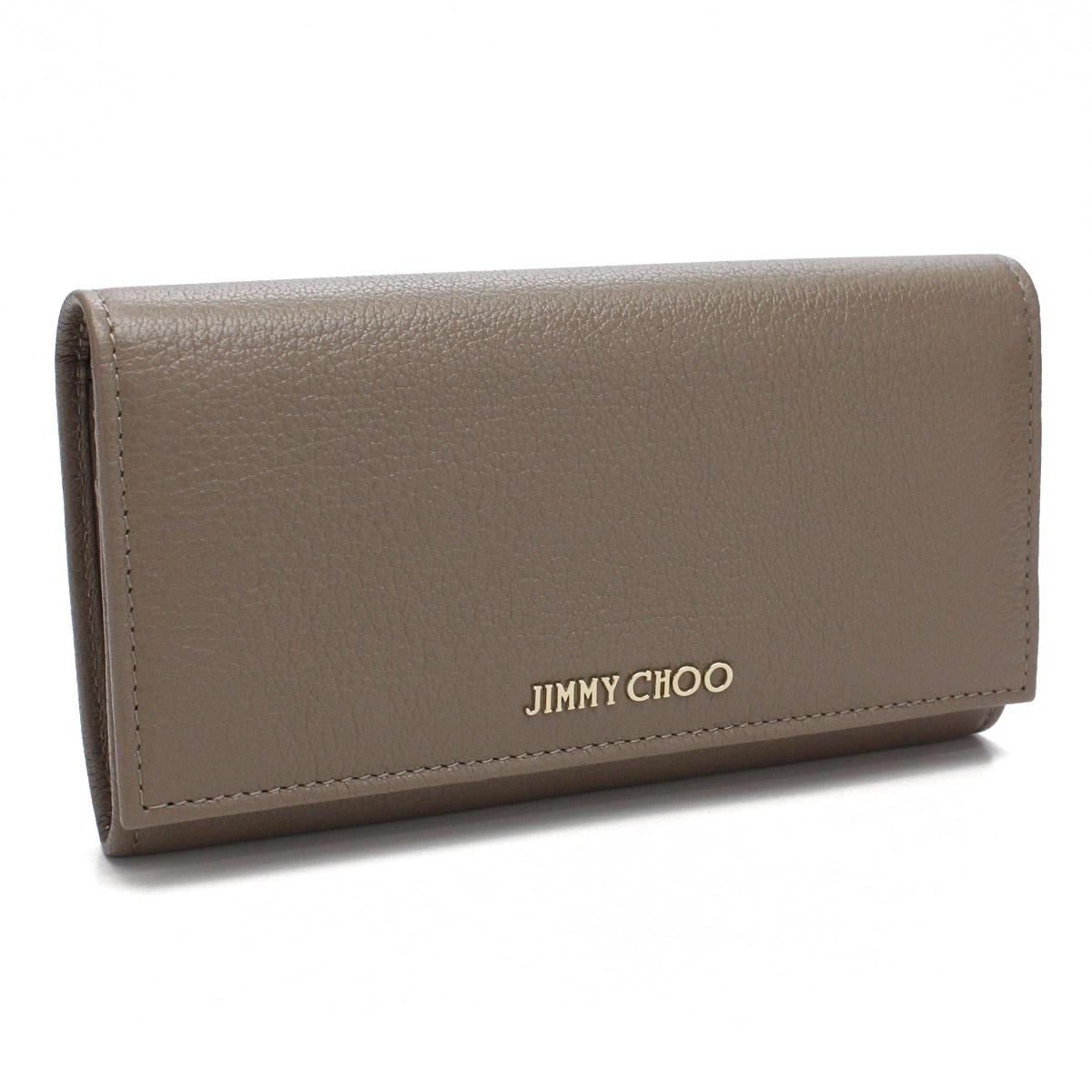 9aa2fa66bc5 Two ジミーチュウ (JIMMY CHOO) Remy fold long wallet REMY GRZ LIGHT MOCHA brown ...