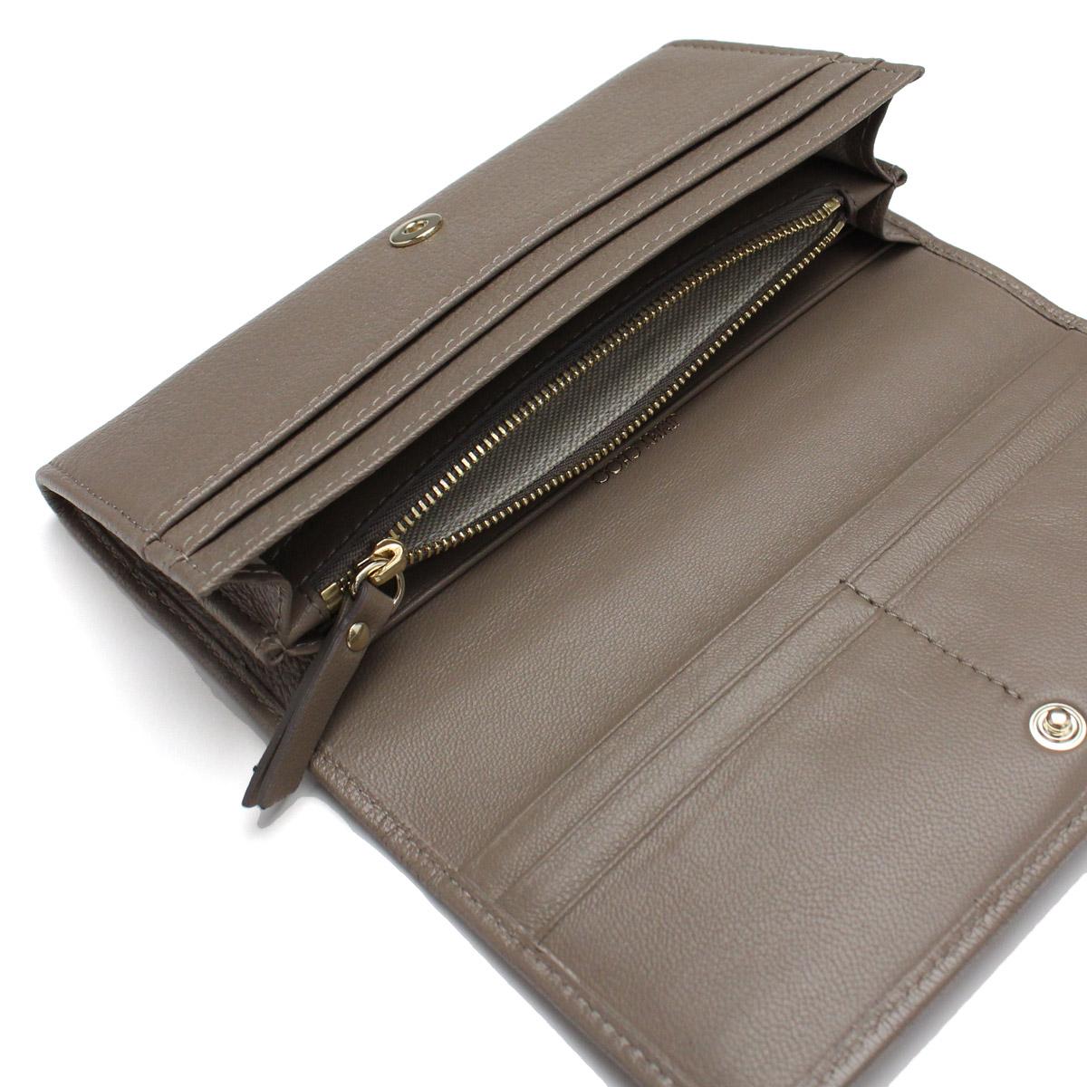 cb1b7a654bb ... Two ジミーチュウ (JIMMY CHOO) Remy fold long wallet REMY GRZ LIGHT MOCHA  brown ...