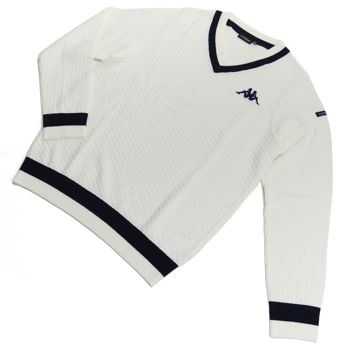 ※ 送料無料 ラッピング無料 Special Price 再入荷/予約販売! カッパ 1着でも送料無料 KAPPA GOLF WT メンズ-セーター,ニット ホワイト系 golf-01 KG952SW41