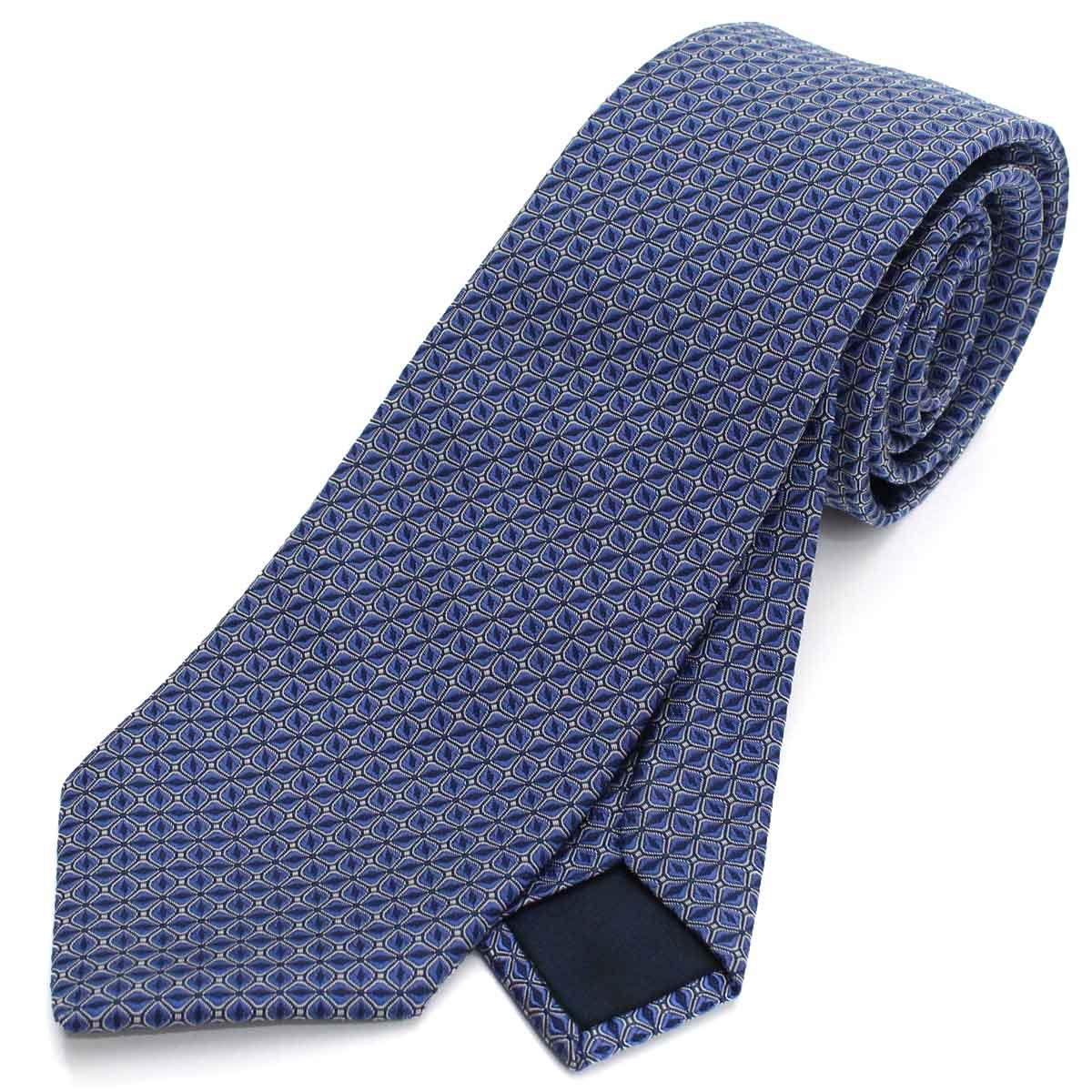 ランバン LANVIN ネクタイ 通常幅 レギュラータイ 2200/2 ブルー メンズ【キャッシュレス 5% 還元】