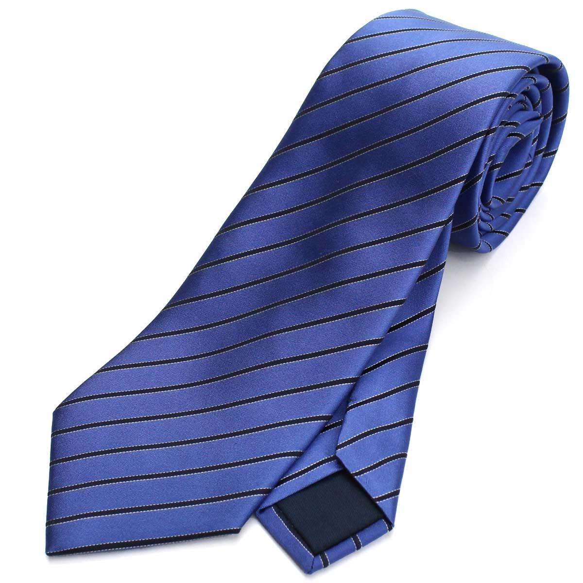 ランバン LANVIN ストライプ柄 ネクタイ 通常幅 レギュラータイ 2231/2 ブルー メンズ【キャッシュレス 5% 還元】