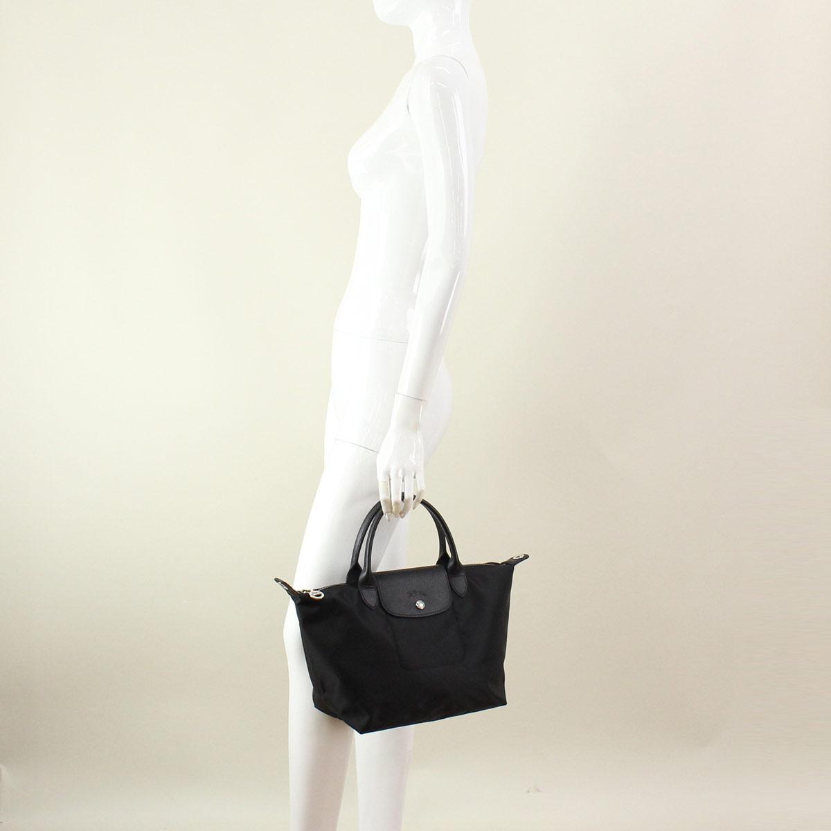 (LONGCHAMP) Longchamp handbags 1512-578-001 black( taxfree/send by EMS/authentic/A brand new item )