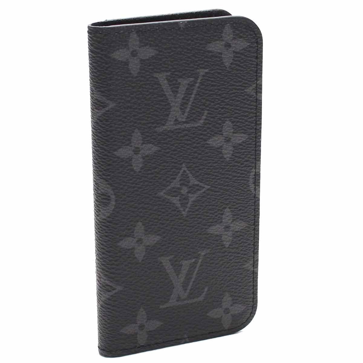 ルイ・ヴィトン (LOUIS VUITTON) 2つ折り iphoneケース IPHONE7・フォリオ M62640 モノグラム・エクリプス グレー系 メンズ