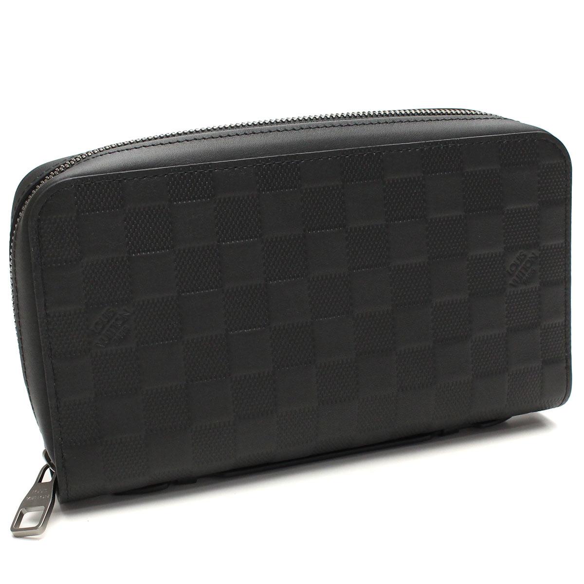 louis vuitton zip wallet. louis vuitton (louis vuitton) damier infini zippy xl zip around wallet n61254 onyx black n