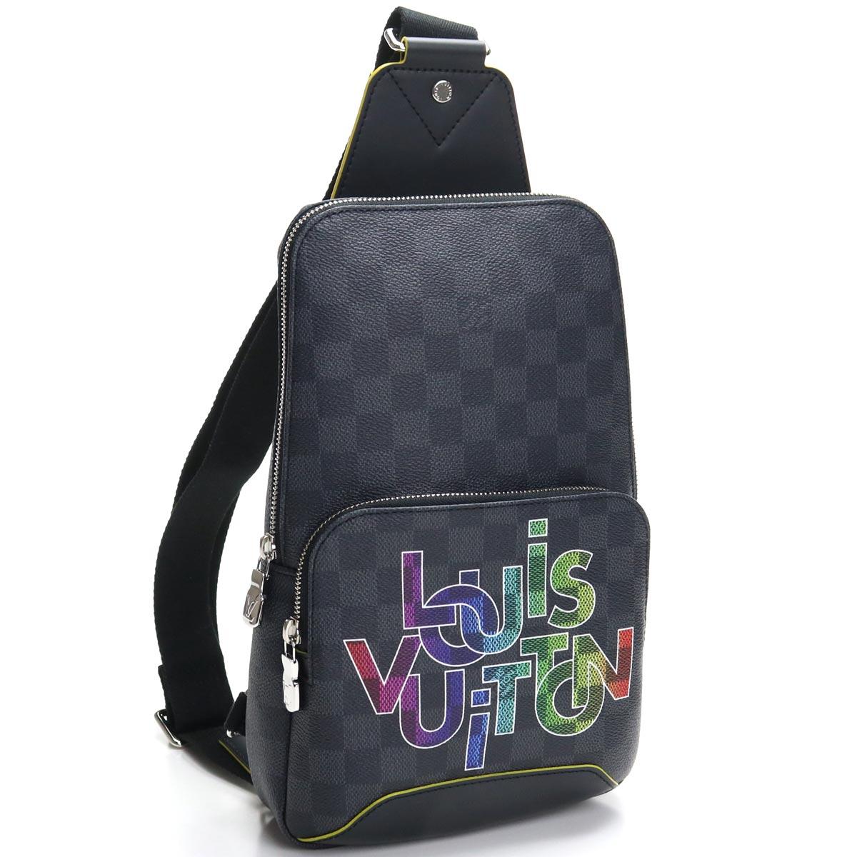 ルイ ヴィトン LOUIS VUITTON グラフィット ボディバッグ N40273 グラフィット ブラック グレー系 メンズ