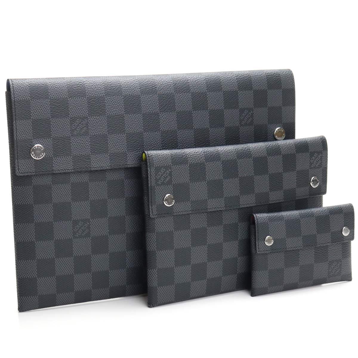 ルイ ヴィトン LOUIS VUITTON グラフィット クラッチバッグ N60255 グラフィット ブラック グレー系 メンズ