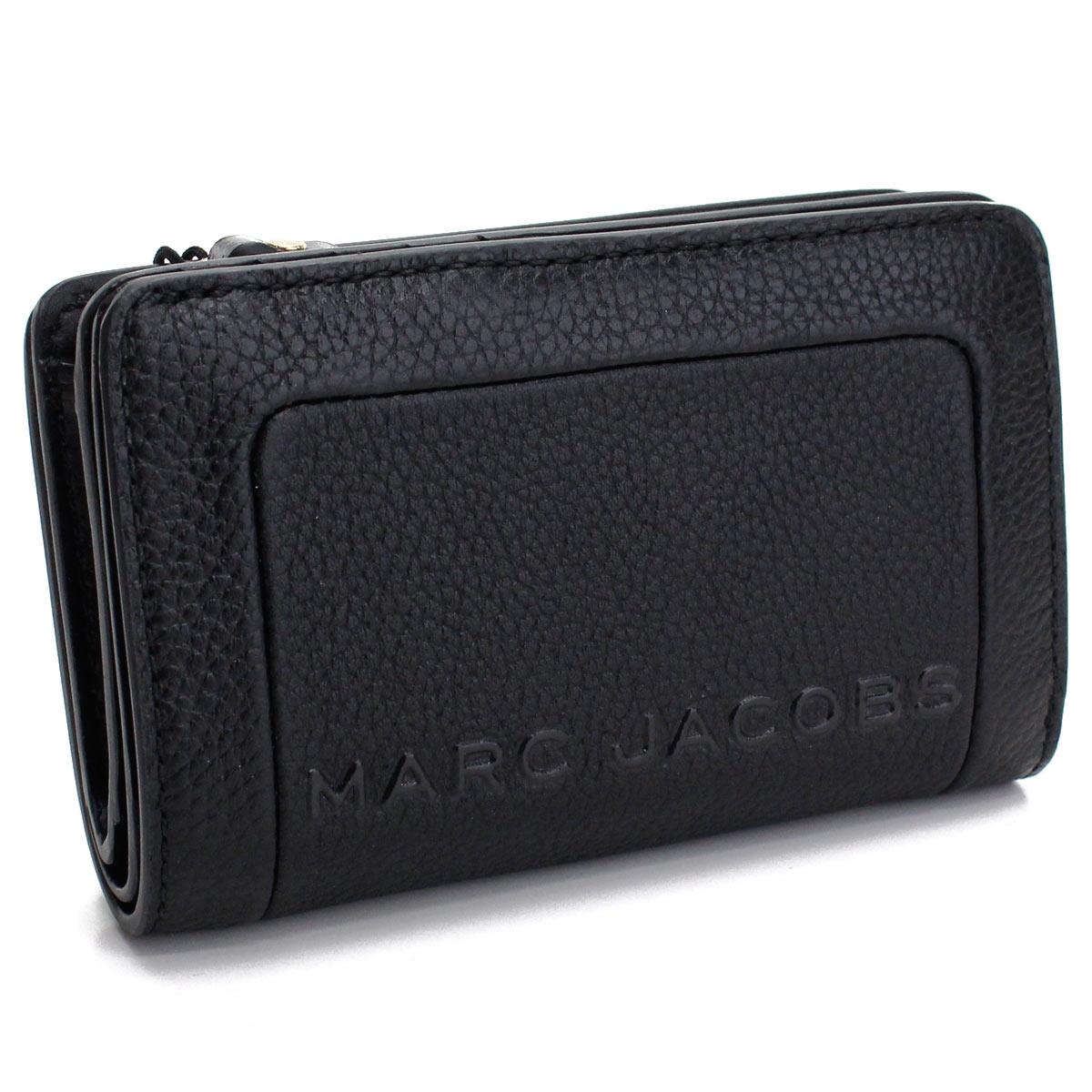 マーク ジェイコブス MARC JACOBS THE TEXTURED BOX 2つ折り財布 中財布 M0015105 001 BLACK ブラック レディース