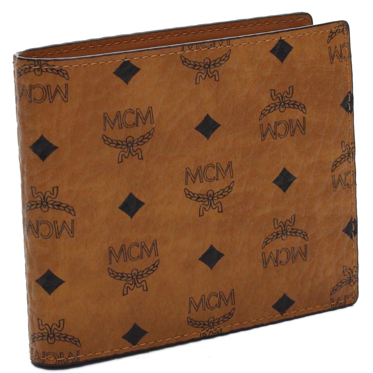 エムシーエム MCM 2つ折り財布 MXS8SVI66 CO001 ブラウン系 メンズ レディース
