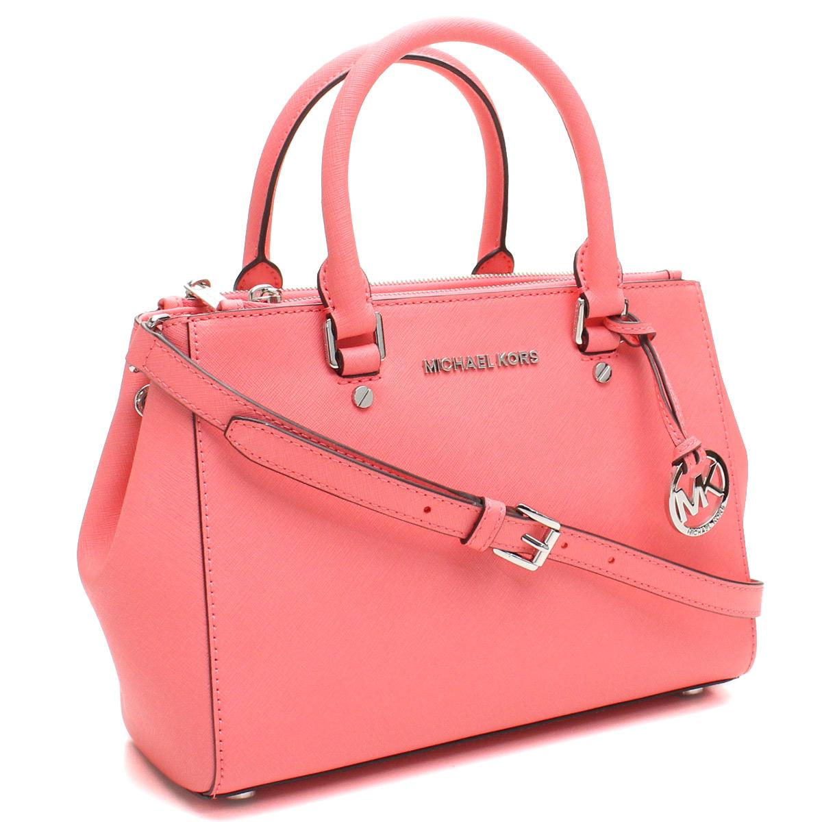 0f9114000bbb michael kors coral handbag Sale
