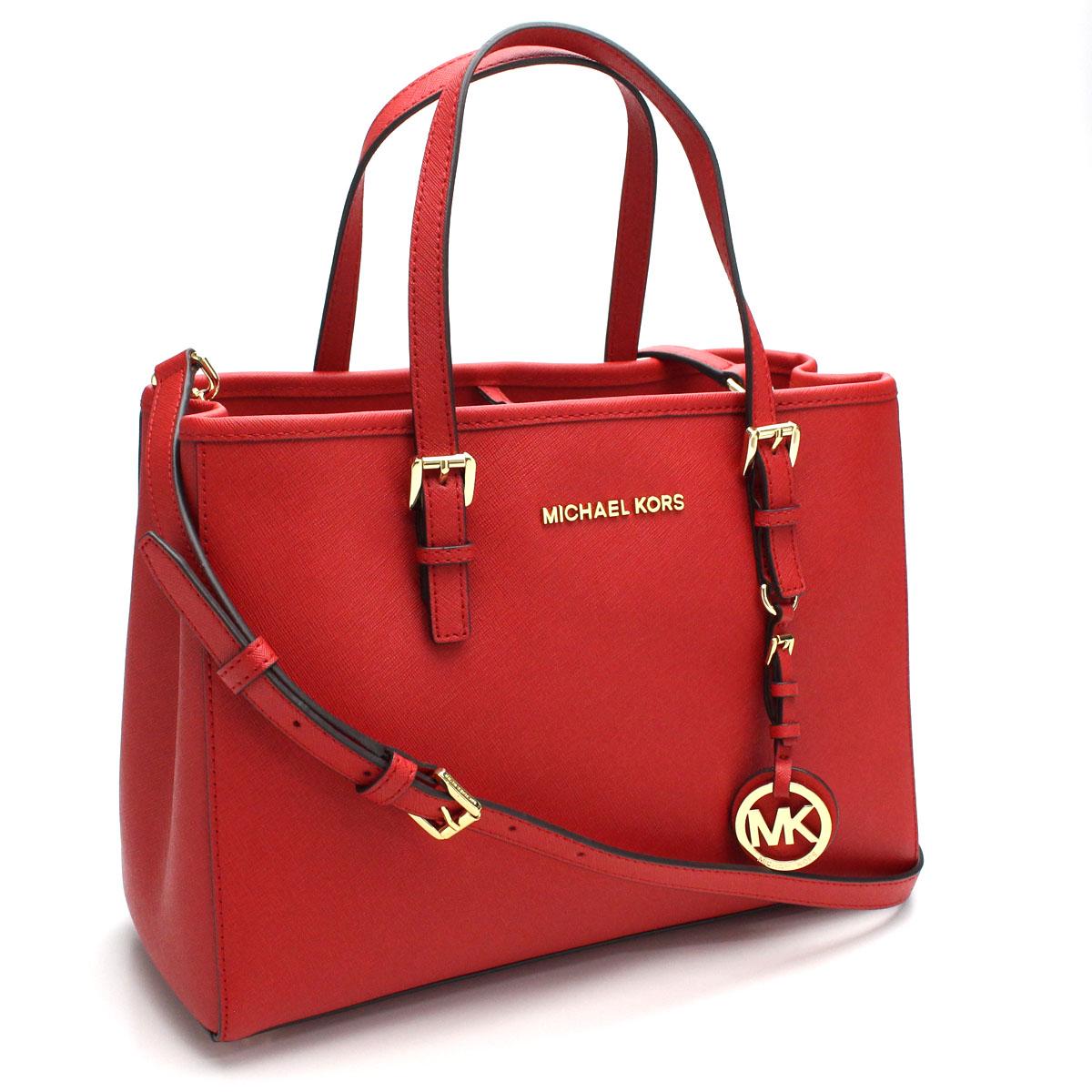 Bighit The total brand wholesale  Michael Kors (MICHAEL KORS) JET SET  TRAVEL tote bag 30H3GTVT8L BRIGHT RED red system  37f986193bd3
