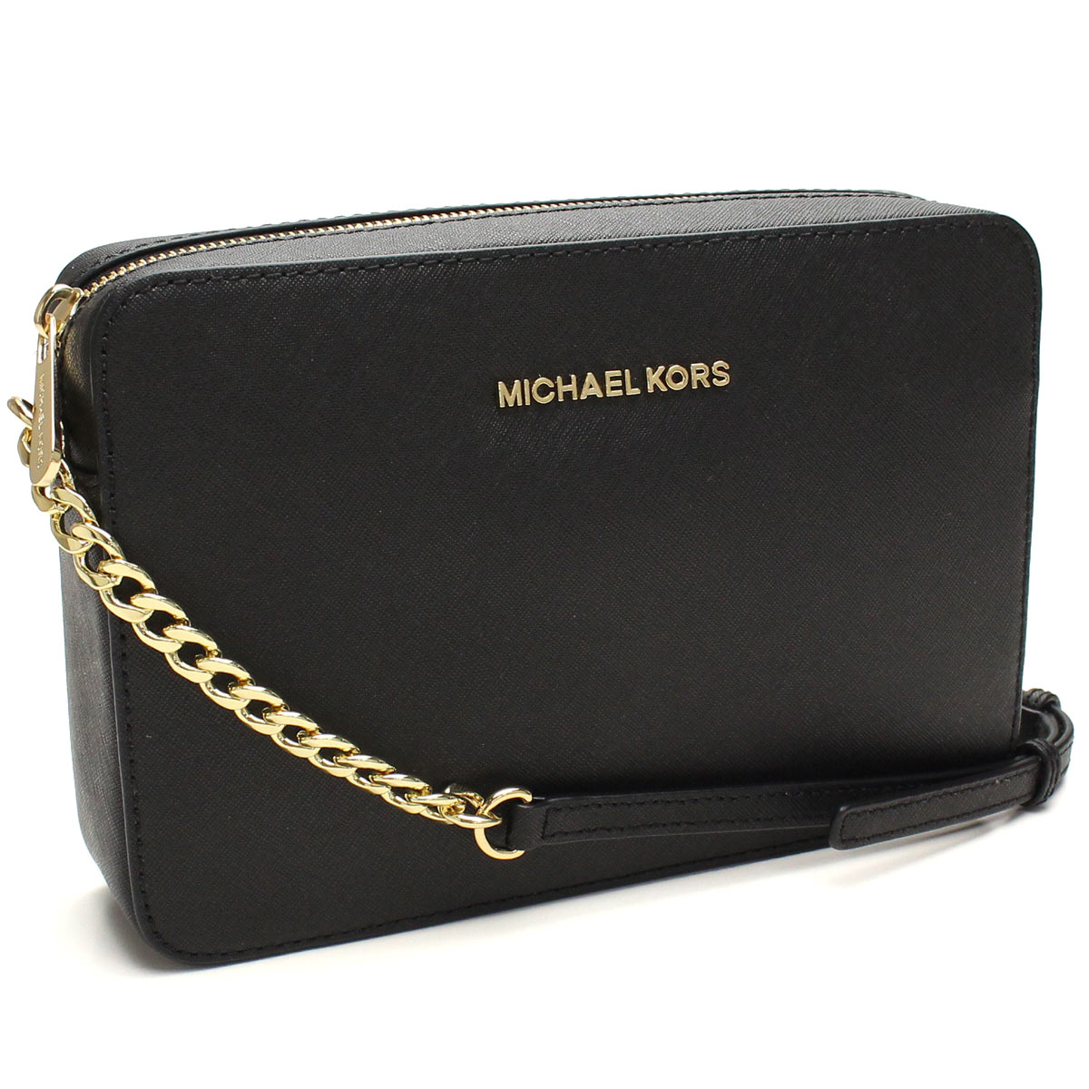 Michael Kors (MICHAEL KORS) JET SET TRAVEL diagonally over the shoulder 32S4GTVC3L BLACK black( taxfree/send by EMS/authentic/A brand new item )