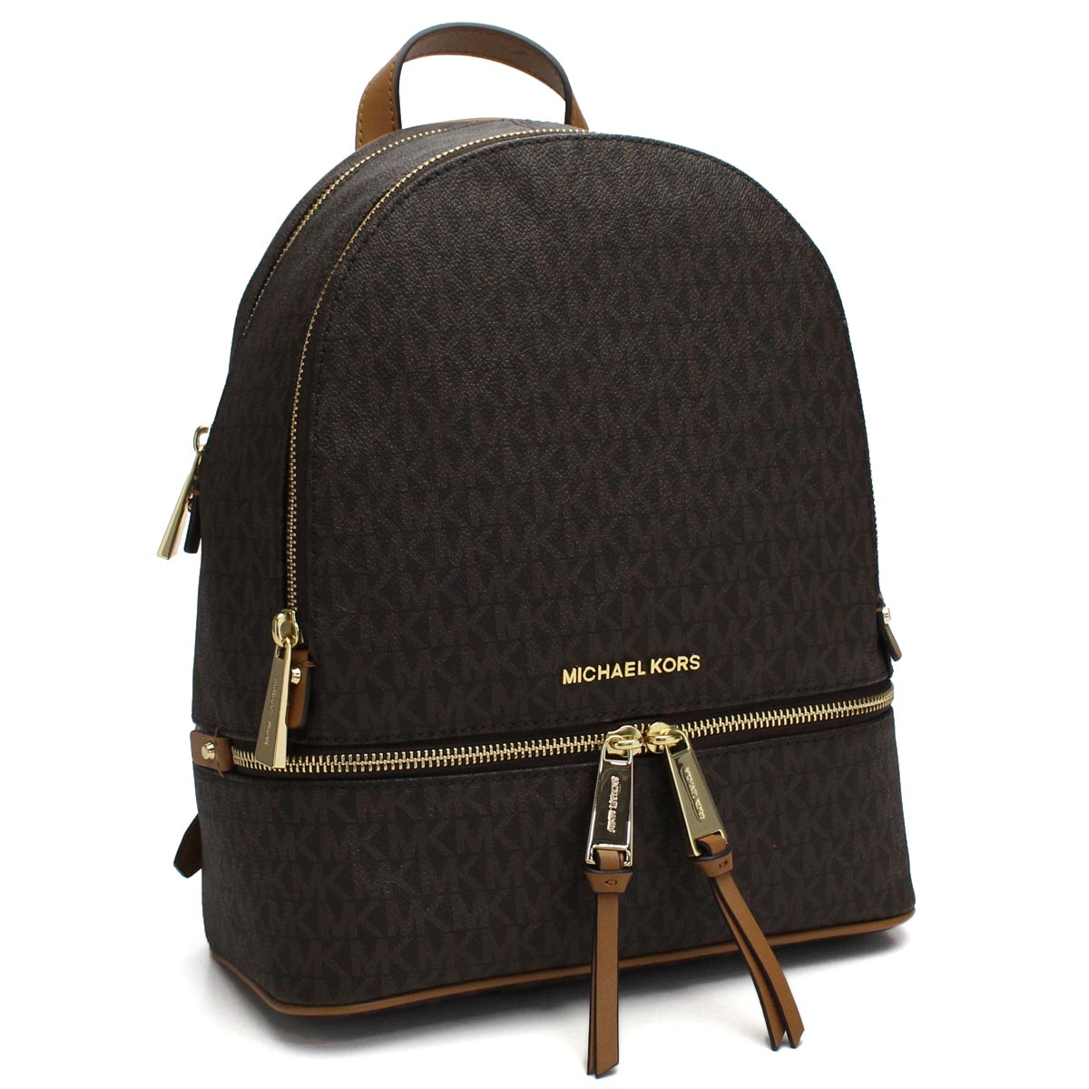 f6c4da1b9512 Bighit The total brand wholesale: Michael Kors (MICHAEL KORS) RHEA ZIP MK  signature rucksack 30S7GEZB1B BROWN brown system | Rakuten Global Market