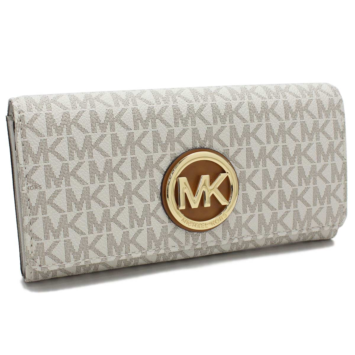 c13c80b43f20 Bighit The total brand wholesale: 32S7GFTE3B VANILLA white system with the Michael  Kors MICHAEL KORS wallet FULTON folio long wallet small change case ...