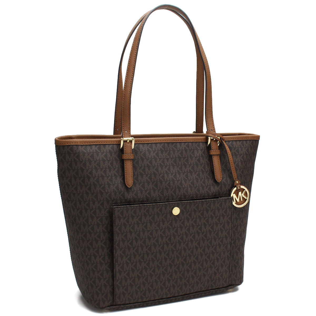 1a3274f90d21 Bighit The total brand wholesale: Michael Kors (MICHAEL KORS) JET SET jet  set MK signature tote bag 30S7GTTT7B BROWN brown system | Rakuten Global  Market