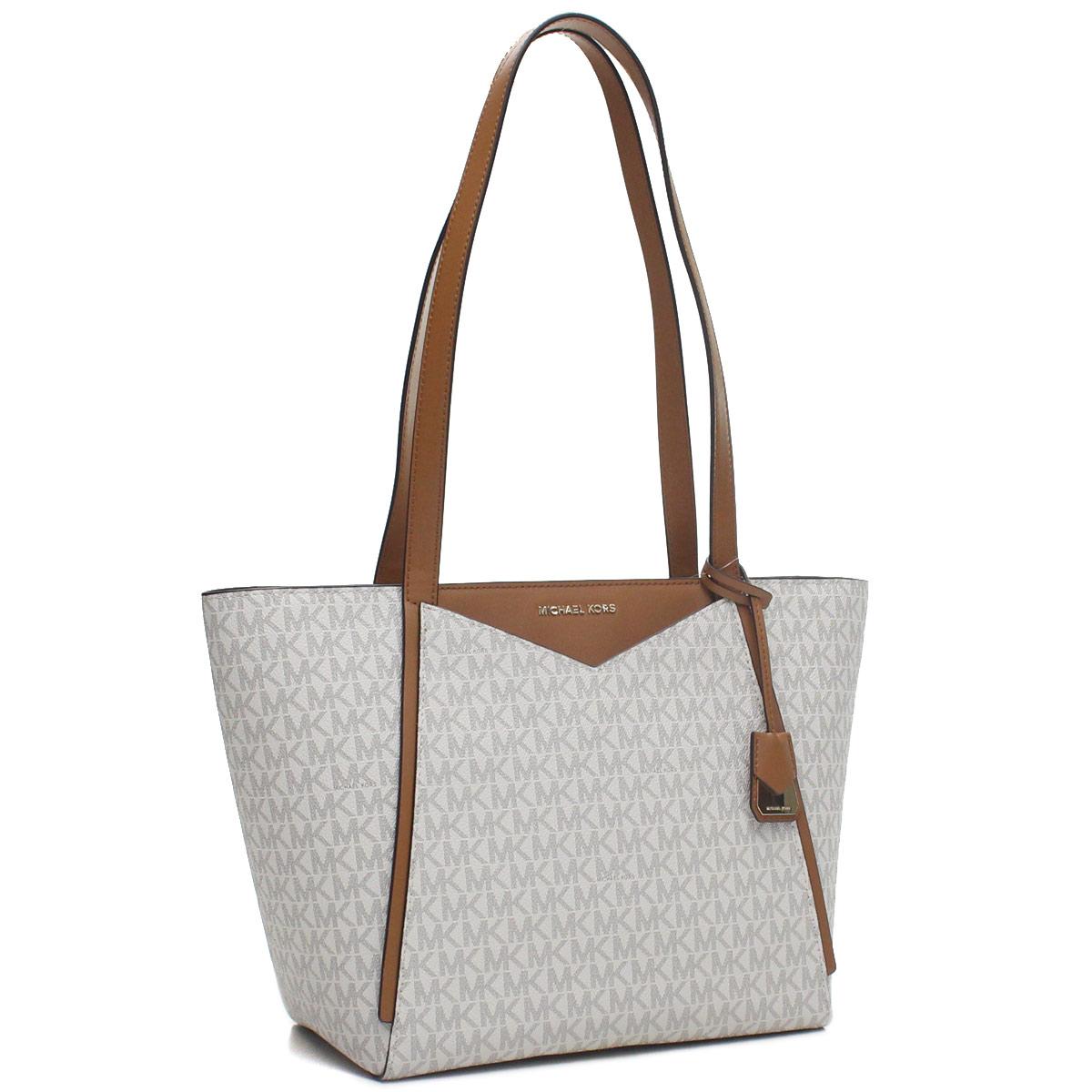 Hit The Total Brand Whole Michael Kors M Tote Groupe Bag 30s8gn1t1b Vanilla White System Brown Rakuten Global Market