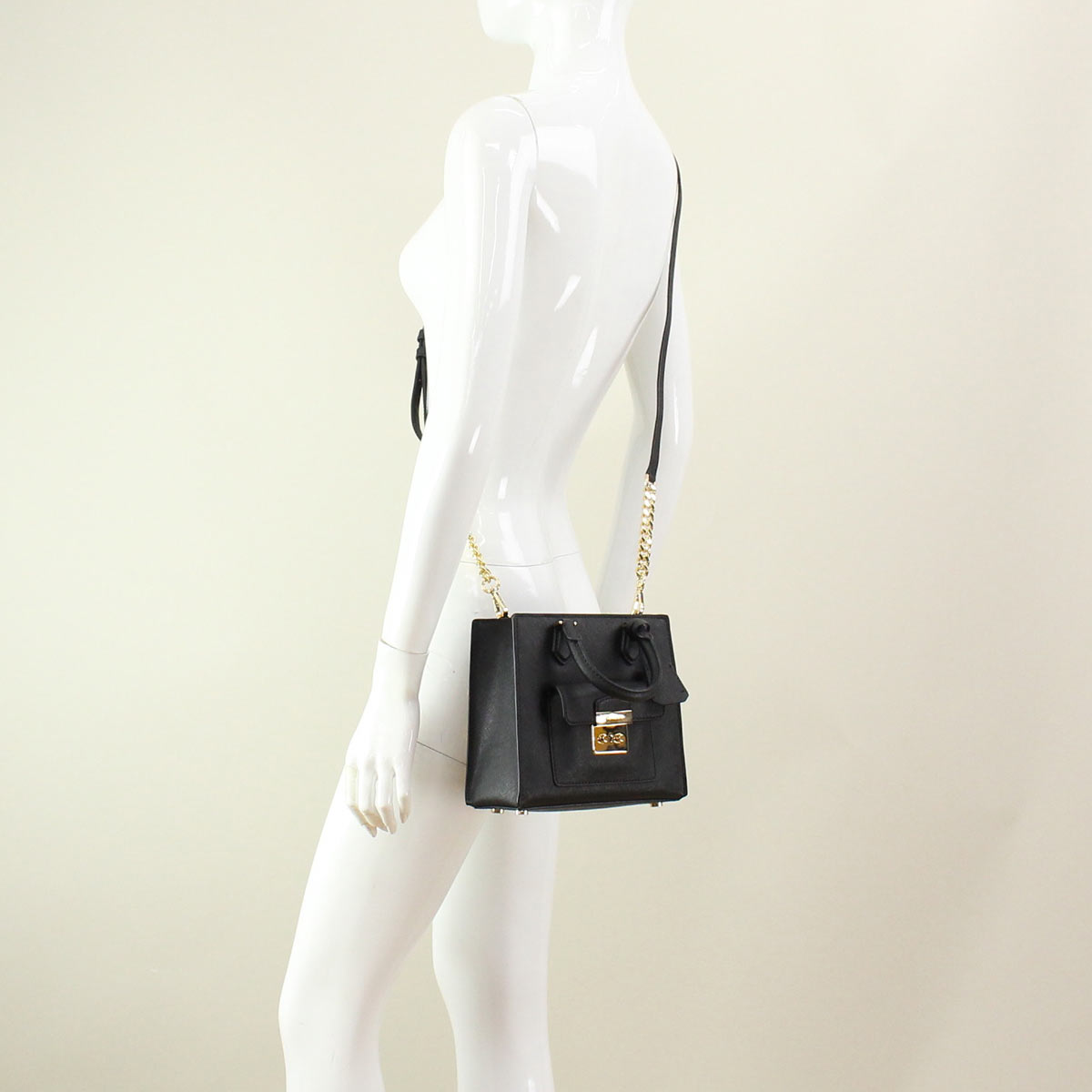 Michael Kors (MICHAEL KORS) 30T6GBDT1L BLACK top handle bag black( taxfree/send by EMS/authentic/A brand new item )
