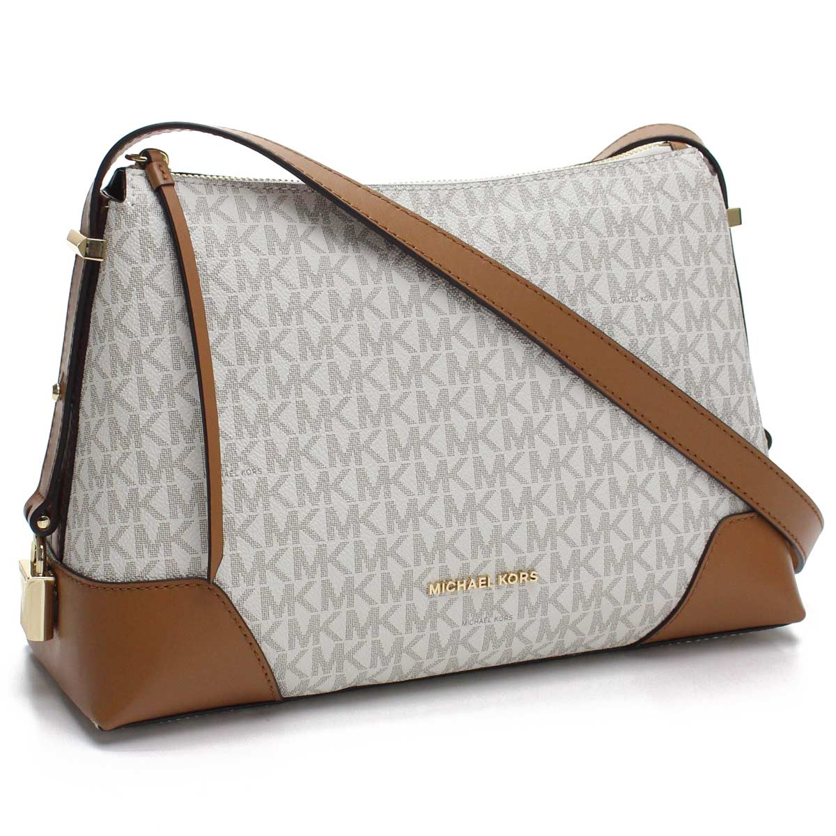 6f988823a91a Bighit The total brand wholesale  Take Michael Kors MICHAEL KORS CROSBY  slant  pro-shoulder bag 30H8GCBM2B 149 VANILLA ACRN white brown system