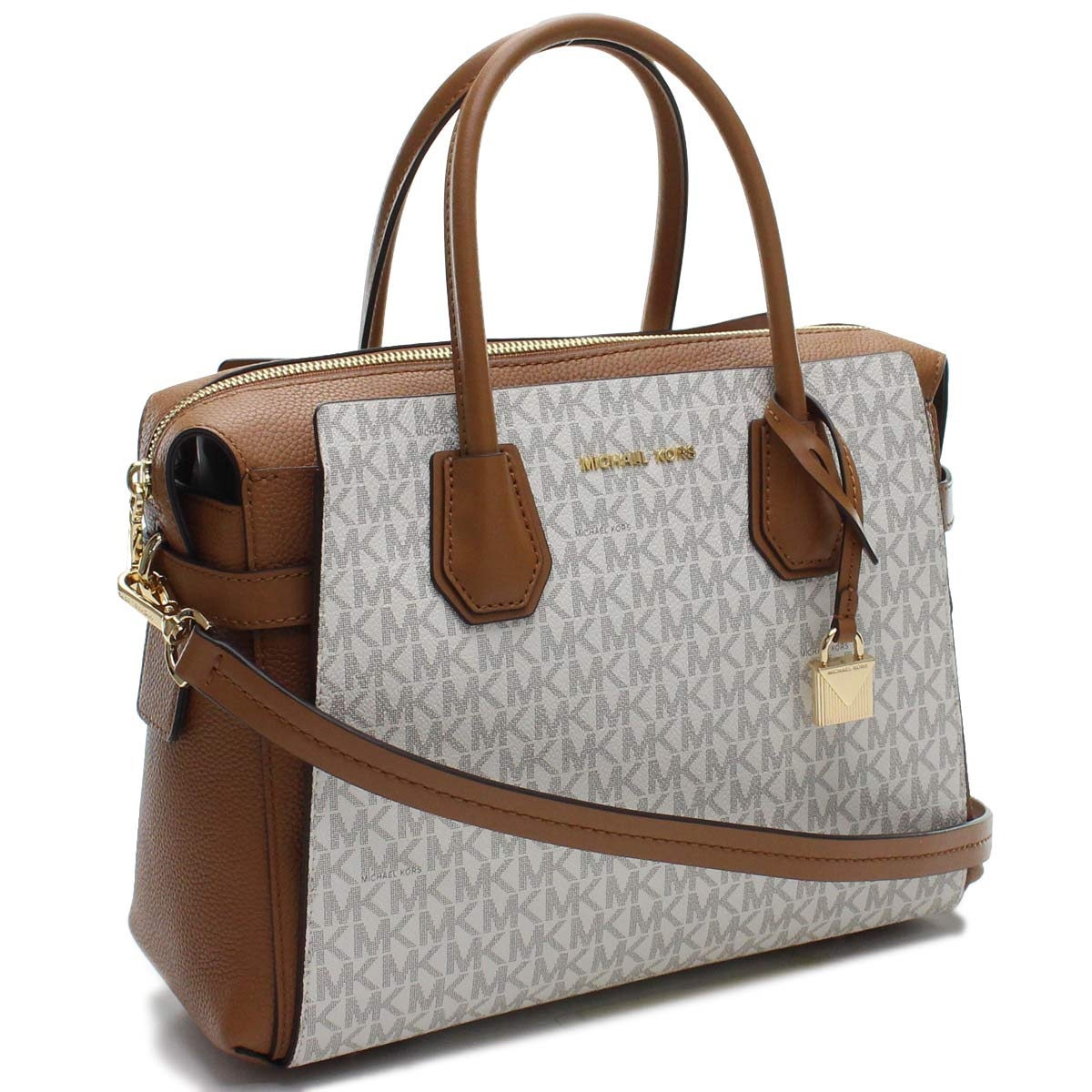 Michael Kors Mercer 2way Handbag 30s9gm9s2b 149 Vanilla Acrn White System Lady S