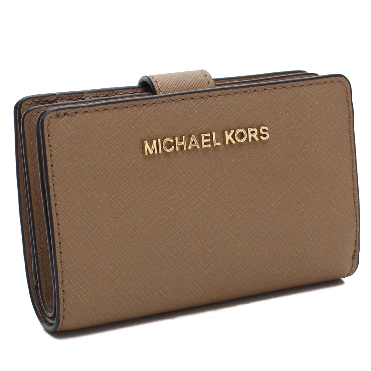 マイケルコースアウトレット MICHAEL KORS(OUTLET) コンパクト 2つ折り財布 35F7GTVF2L LEATHER DK/KH ブラウン系 レディース