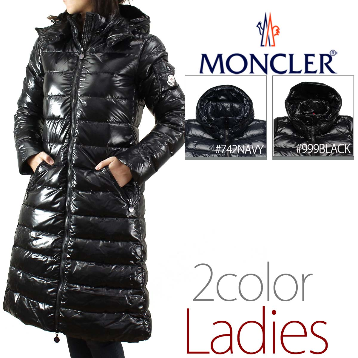 MONCLER (MONCLER) [MOKA] women's down coat MOKA 4931105 15 - 68950 - 999 black( taxfree/send by EMS/authentic/A brand new item )