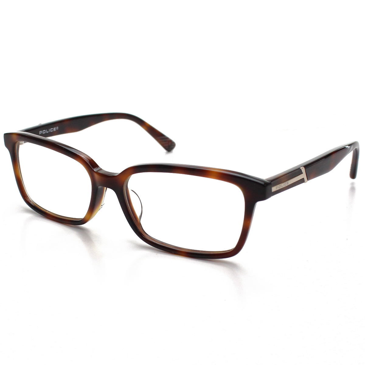 ポリス POLICE ダテ眼鏡 メガネフレーム ブラウンデミ べっこう柄 VPL426J 02BN ブラウン系 メンズ