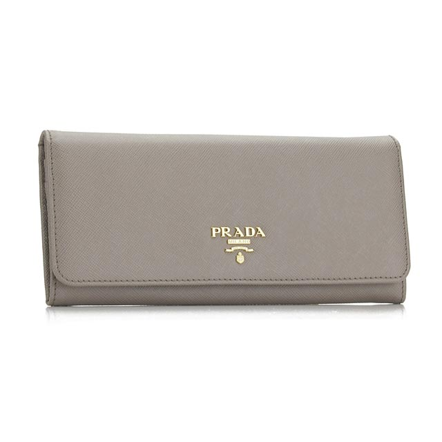 3f1cd47897d7 Bighit The total brand wholesale: Prada outlet PRADA (OUTLET) bi-fold wallet  1M1132-O-UZF-F0572 ARGILLA gray pieces with loose change.