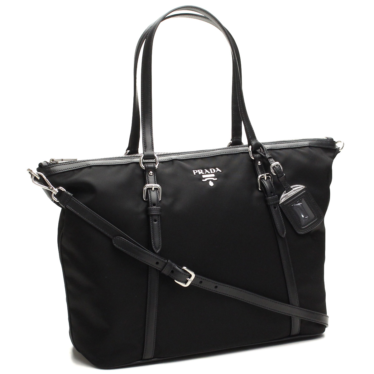 )Prada outlet PRADA (OUTLET) tote bag B4253M-O-QXO-F0002 NERO black(  taxfree send by EMS authentic A brand new item )  2885d8b4e7fe