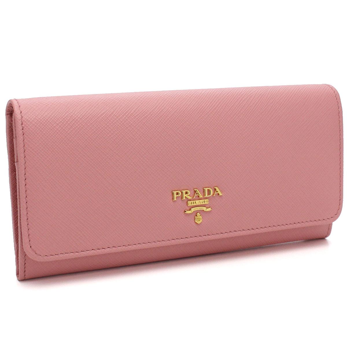 プラダ PRADA 財布 サフィアノ メタル 二つ折り 長財布 1MH132 QWA F0442 PETALO ピンク系 レディース サフィアーノ【キャッシュレス 5% 還元】
