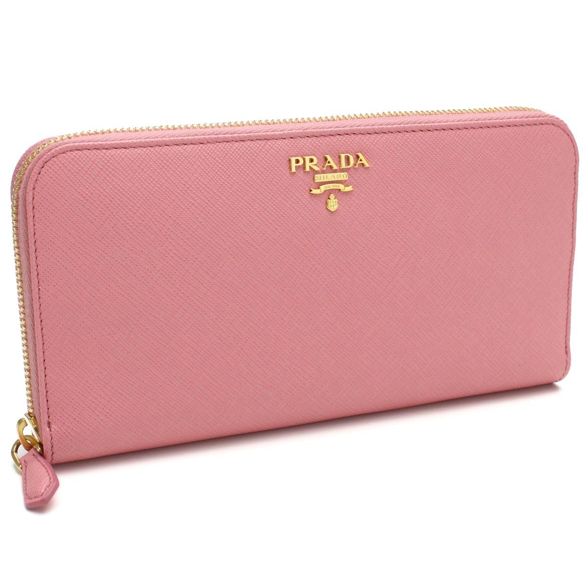 e87c28ddc0c Bighit The total brand wholesale  Prada (PRADA) round fastener long wallet  1ML506 QWA F0442 PETALO pink system