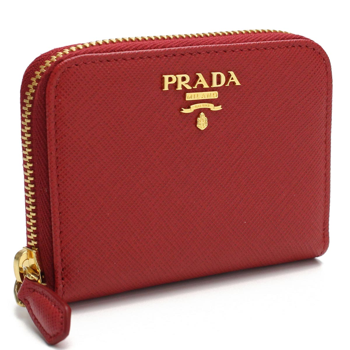 341b3607dab Bighit The total brand wholesale  Prada PRADA round fastener coin case coin  purse 1MM268 QWA F068Z FUOCO red system