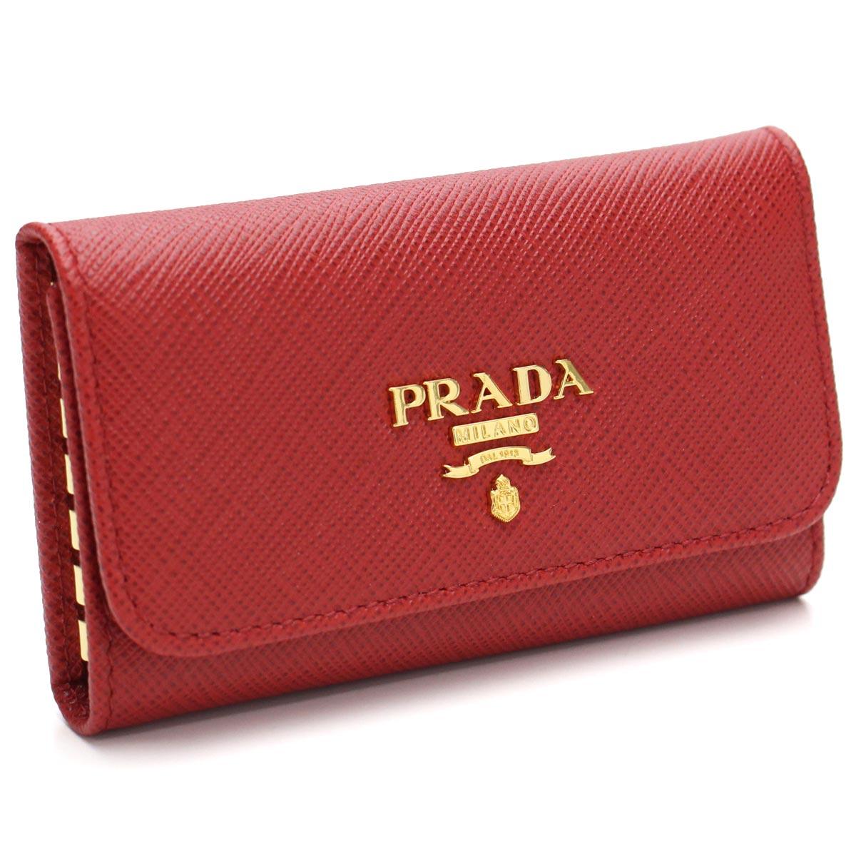 手数料安い プラダ (PRADA) サフィアーノ メタル 6連キーケース 1PG222 QWA F068Z FUOCO レッド系 レディース, Bebery(ベベリー) 65027fbc