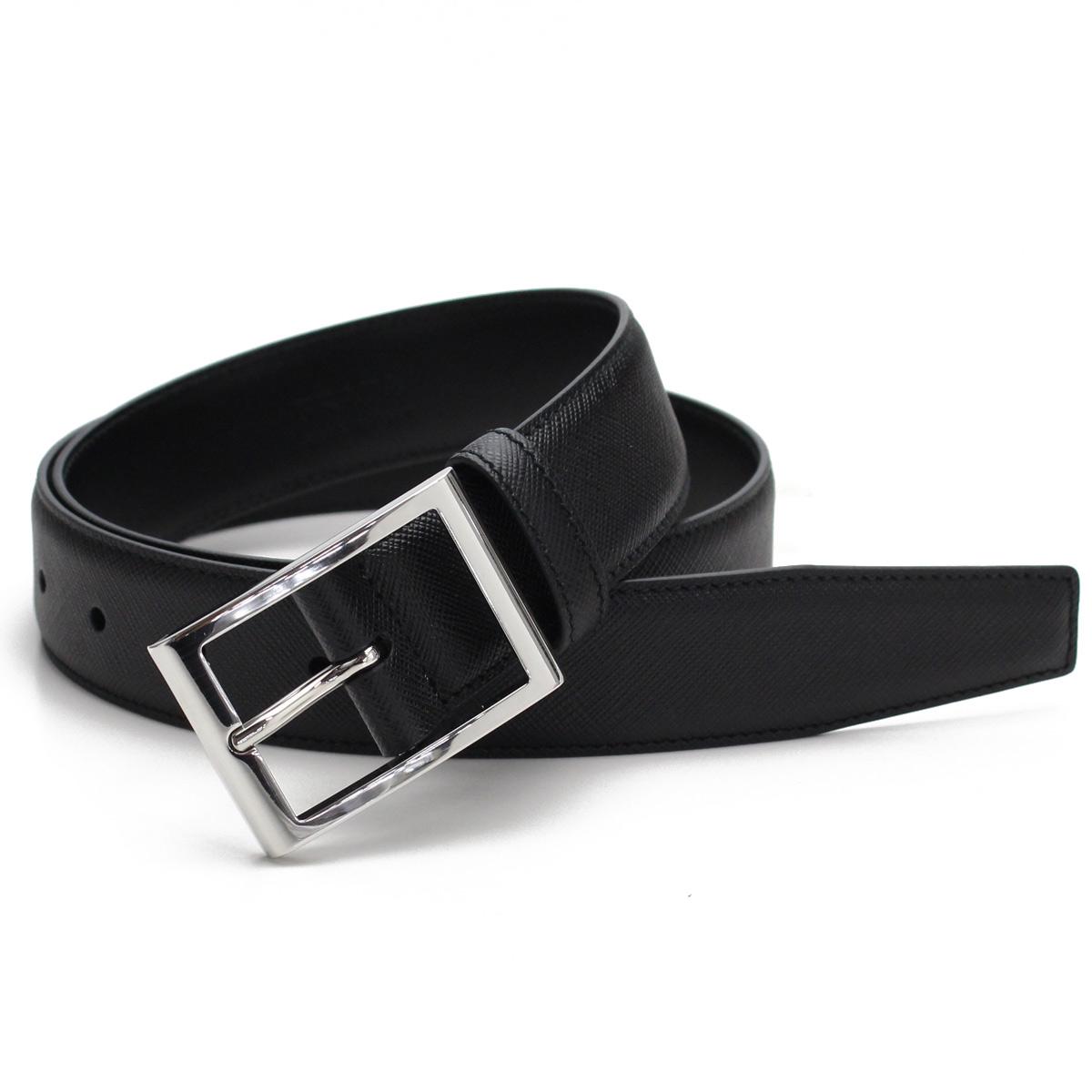 feb9708e152c8 Bighit The total brand wholesale: Prada PRADA men leather belt 2CC121 053  F0002 NERO black   Rakuten Global Market
