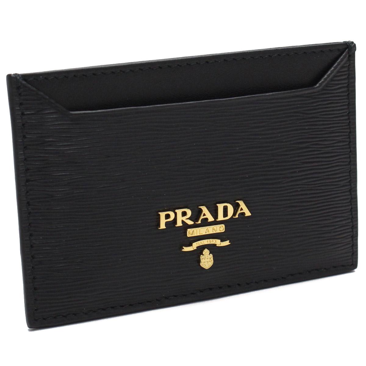 プラダ アウトレット (PRADA(OUTLET)) カードケース 1MC208-O 2EZZ F0002 NERO ブラック レディース【キャッシュレス 5% 還元】