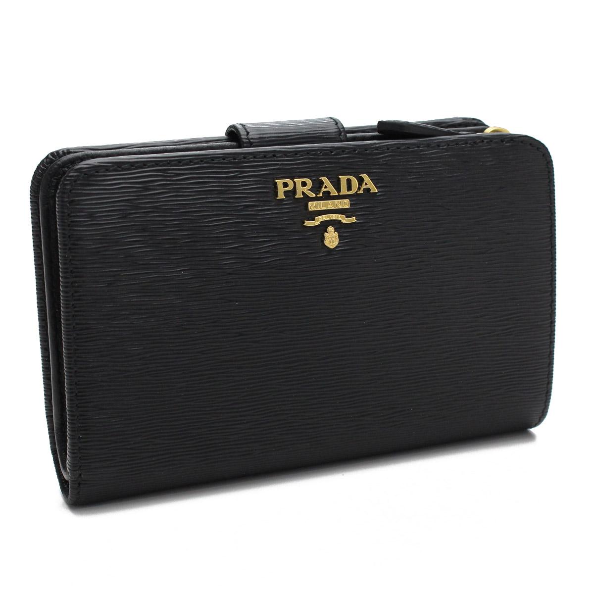 プラダ アウトレット PRADA OUTLET 二つ折り 1ML225-O 2EZZ F0002 NERO ブラック レディース 最安挑戦中