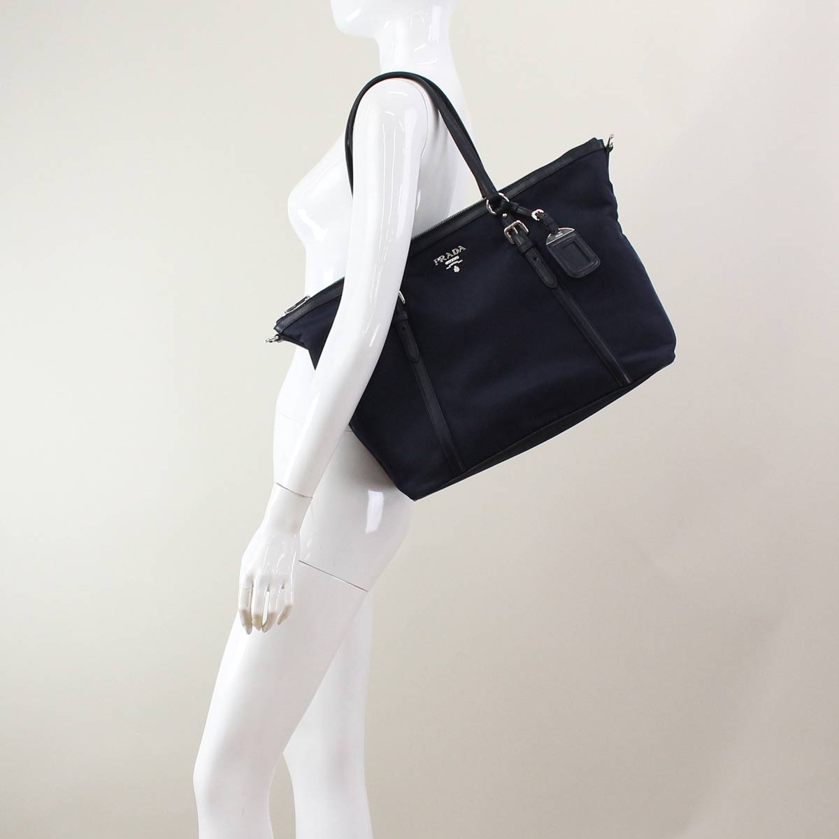 ( tax free ! )Prada outlet PRADA (OUTLET) tote bag B4253M-O-QXO-F0008 BLEU Navy( taxfree/send by EMS/authentic/A brand new item )