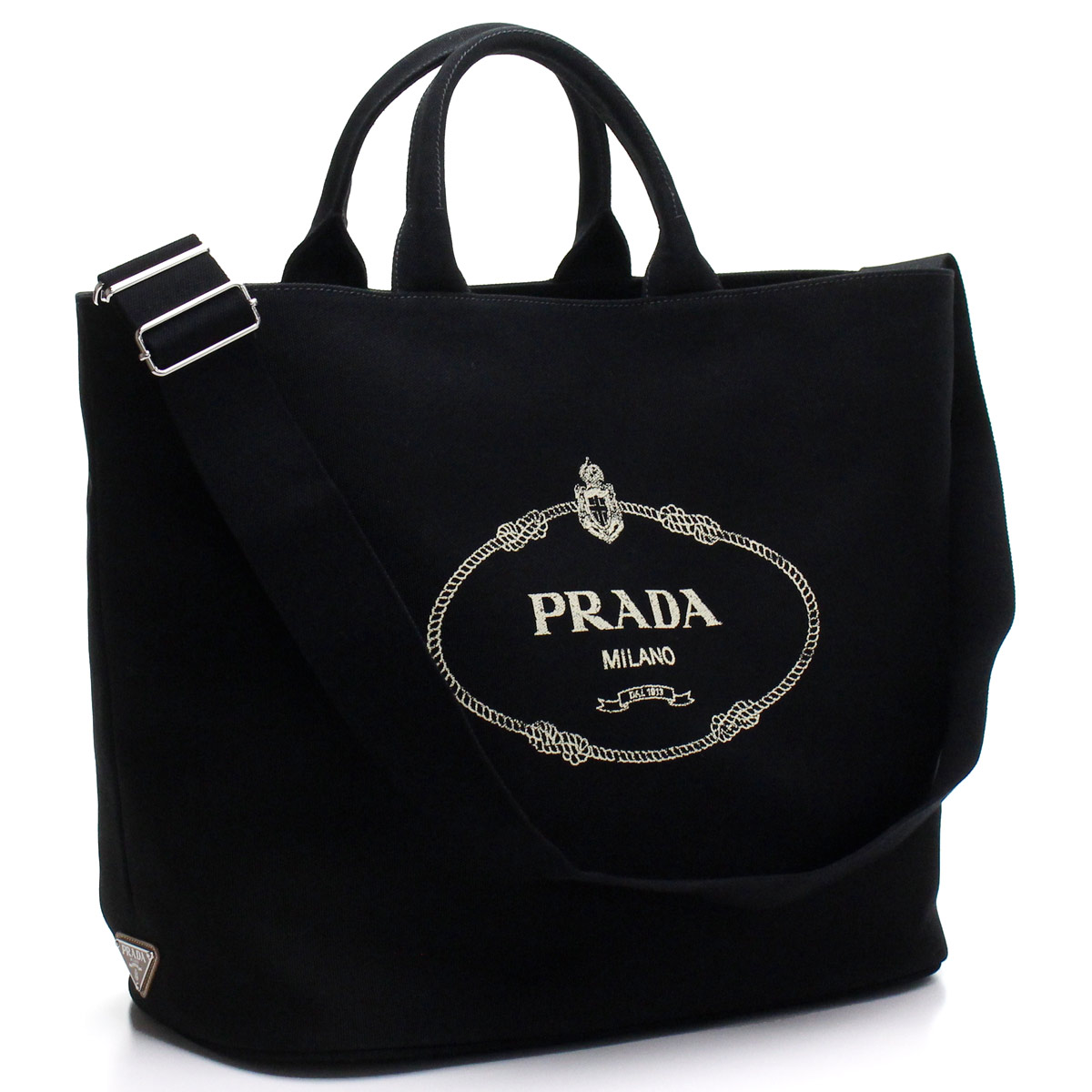 プラダ PRADA カナパ ショッピング トートバッグ 1BG161 ZKI V OOO F0002 NERO ブラック レディース