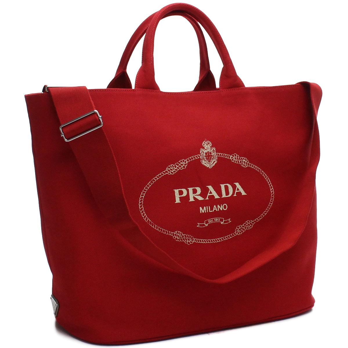 プラダ PRADA カナパ ショッピング トートバッグ 1BG161 ZKI V OOO F0011 ROSSO レッド系 レディース
