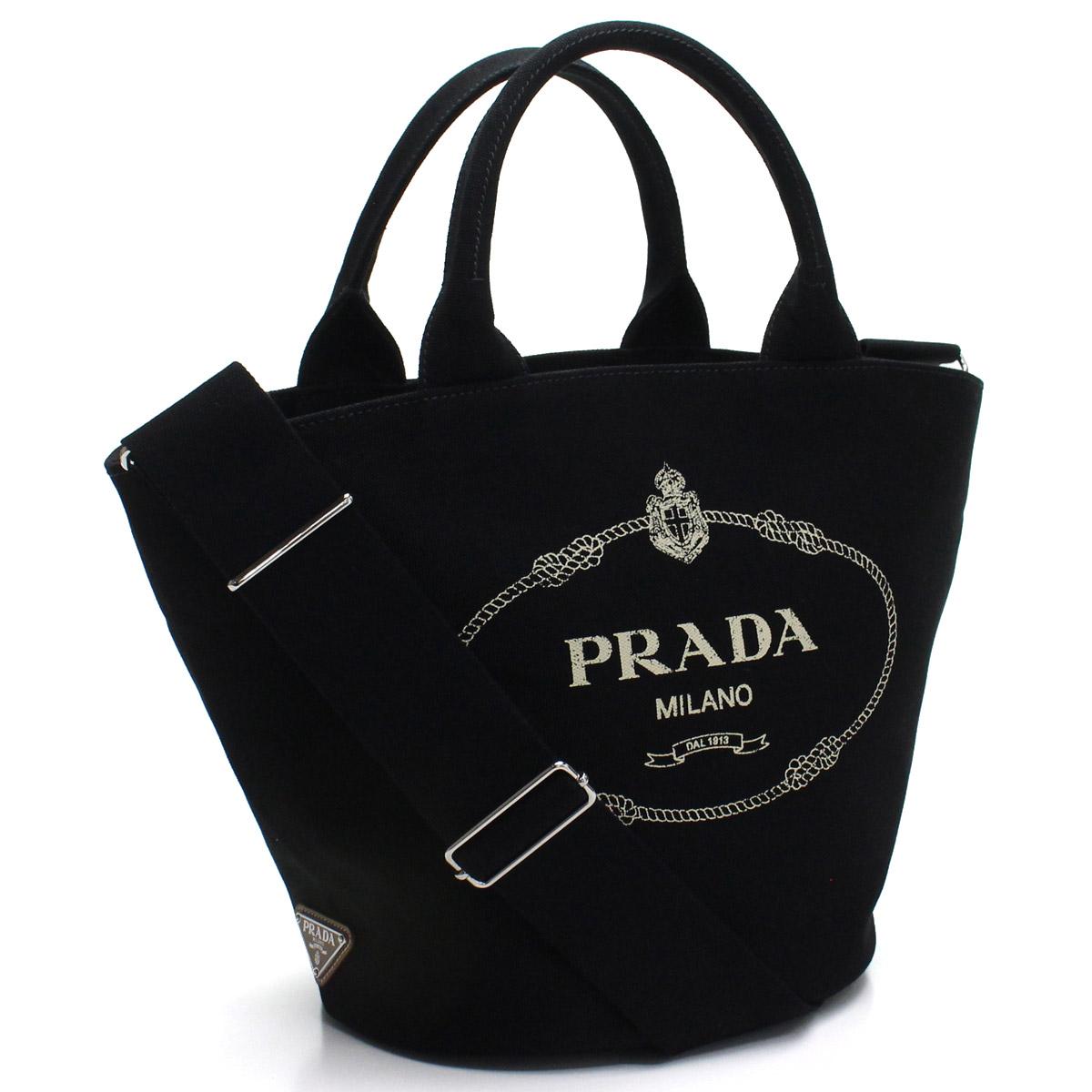プラダ PRADA カナパ 2way ハンドバッグ 1BG186 ZKI V OOO F0002 NERO ブラック レディース